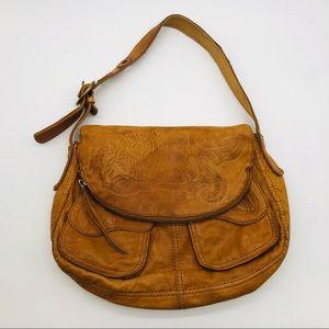 Lucky Brand Stash Foldover Lamb Leather Bag